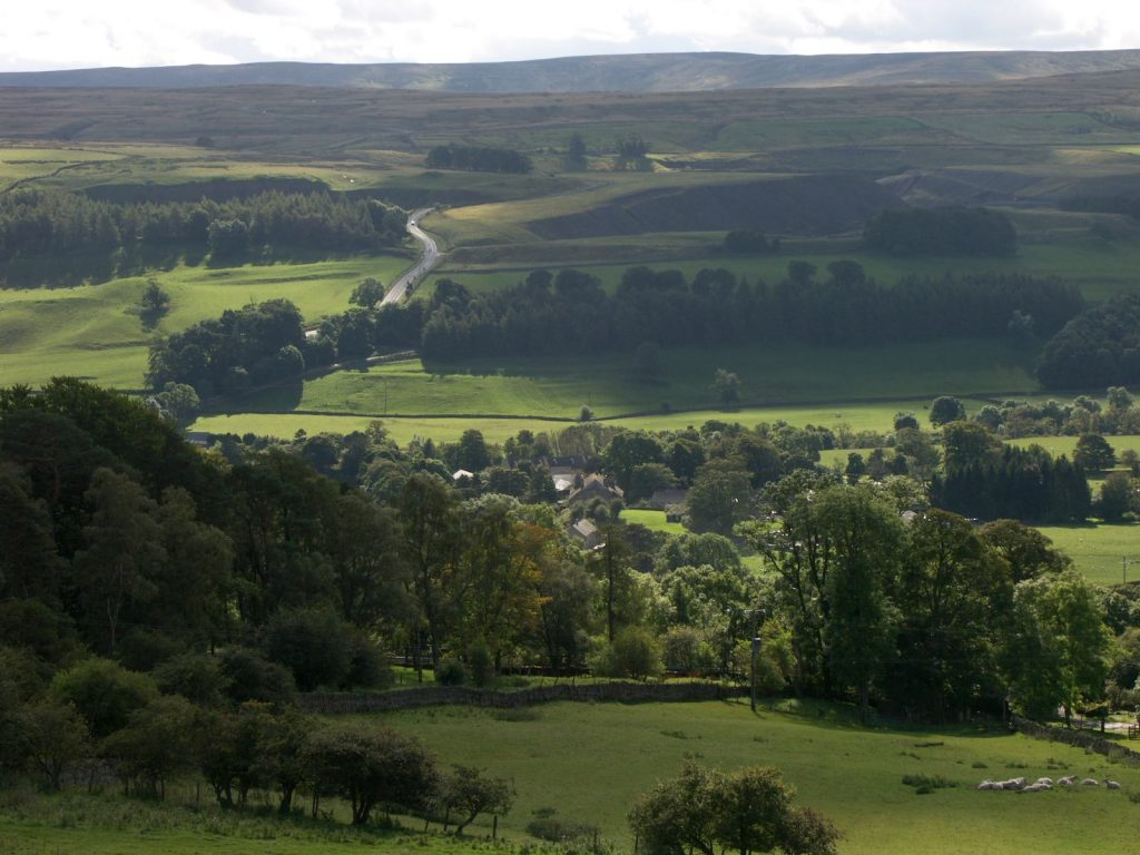 View over Stanhope in Weardale
